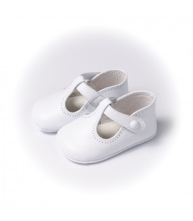 Sandalia blanca para bebé de Leon Shoes
