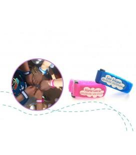 Pulsera identificativa para niños en rosa o azul