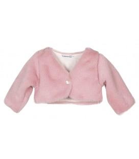 Chaqueta de pelo rosa para bebé de Calamaro