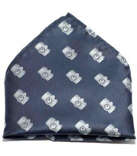Pañuelo de bolsillo infantil azul marino con cámaras de Spagnolo