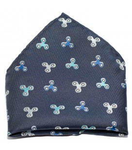 Pañuelo de bolsillo infantil azul marino con speeners de Spagnolo
