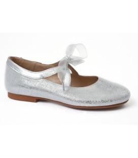 Zapato plata de ceremonia para niña