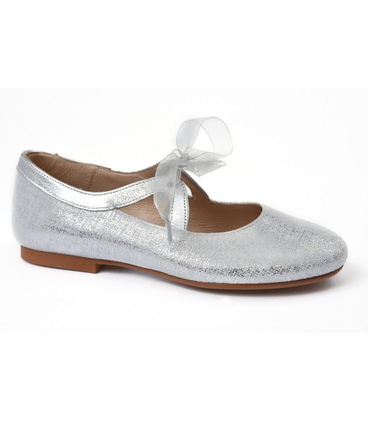 209c34f9716 Zapato plata de ceremonia para niña - Adriels Moda Infantil