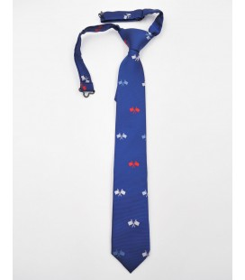Corbata azulón con banderas para niño de Spagnolo