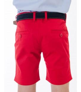 Bermuda básica para niño de Spagnolo - Rojo