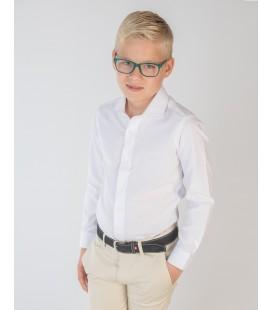 Camisa blanca fil a fil para niño de Spagnolo