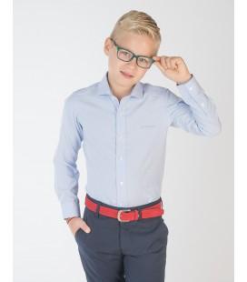 Camisa azul mil rayas para niño de Spagnolo