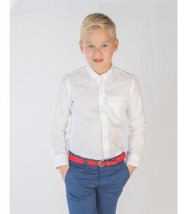 Camisa cuello mao lino liso para niño de Spagnolo