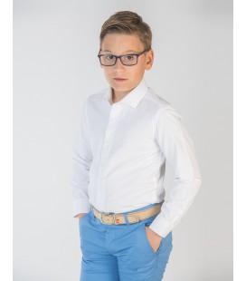 Camisa jacquard blanca para niño de Spagnolo