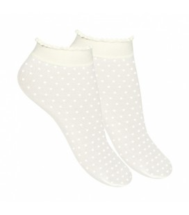 Calcetines cortos micro topo de Cóndor - Blanco
