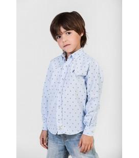 Camisa azul para niño con calaveras de Polo Hills