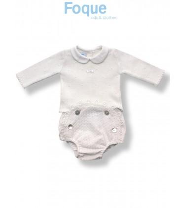 Conjunto beige para bebé de Foque