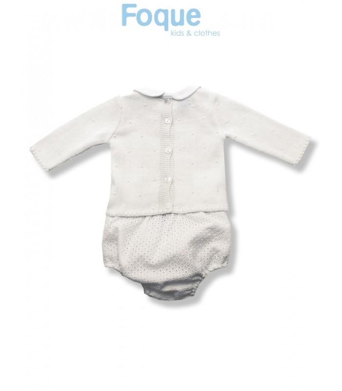 Conjunto beige para bebé de Foque - Adriels Moda Infantil 54ef0978dc0d