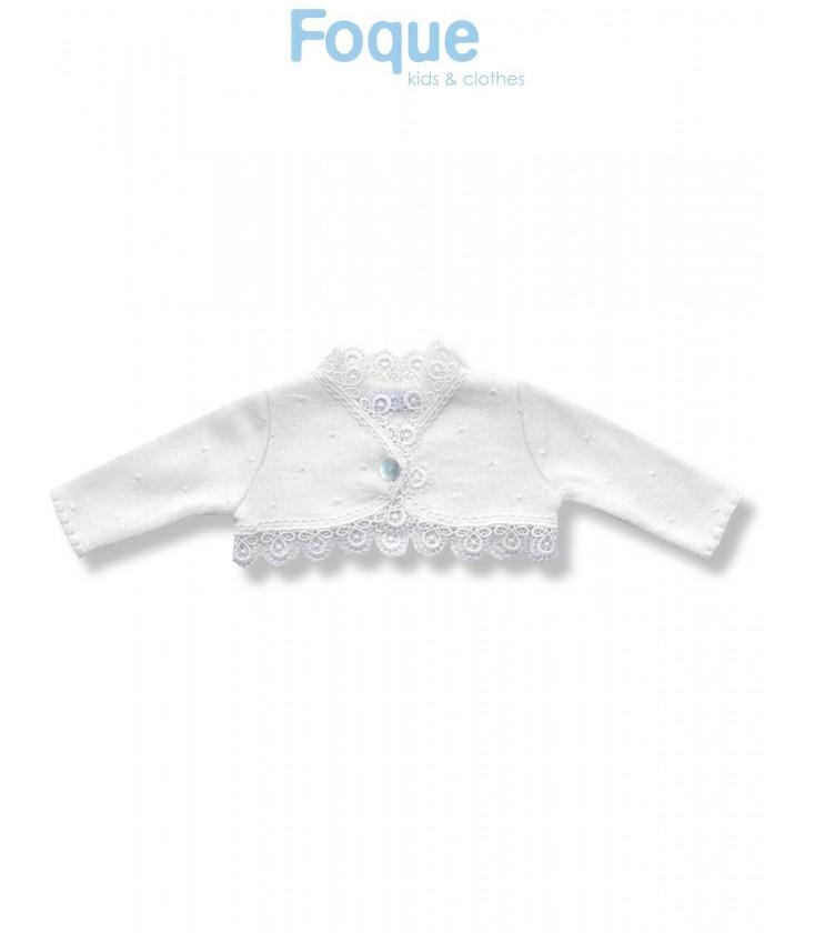 Chaqueta de punto para bebé niña de Foque Moda Infantil - Adriels ... 1f62cd5214b4