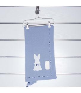 Toquilla conejo perlé de Valentina Bebés - Azul empolvado
