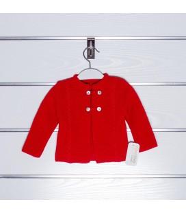 Chaqueta de punto básica ochos de Valentina Bebés - Rojo