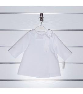 Abrigo de piqué con encaje de Valentina Bebés - Blanco