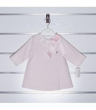 Abrigo de piqué con encaje de Valentina Bebés - Rosa Bebé