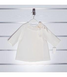Abrigo de piqué con encaje de Valentina Bebés - Marfil