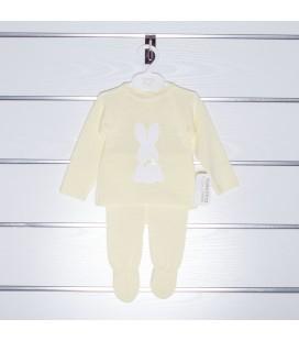 Conjunto amarillo jersey y polaina de Valentina Bebés