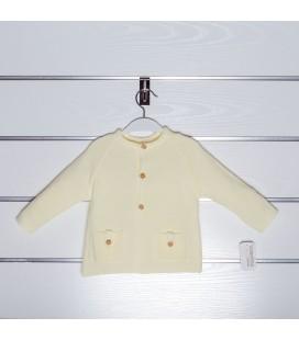 Chaqueta de punto bolsillos de Valentina Bebés - Amarillo