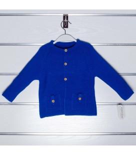 Chaqueta de punto bolsillos de Valentina Bebés - Azulón