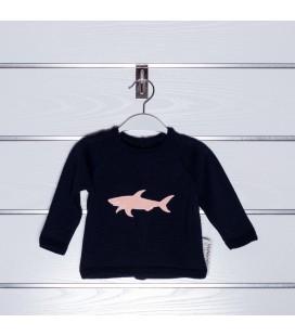 Jersey tiburón bordado de Valentina Bebés - Marino / Coral