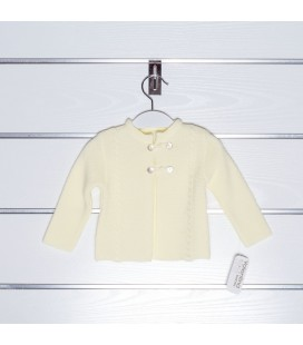Chaqueta de punto básica ochos de Valentina Bebés - Amarillo