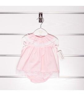 Vestido valencié rosa de Valentina Bebés