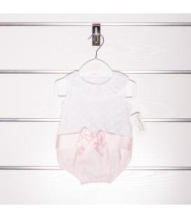 Pelele blanco y rosa de Valentina Bebés