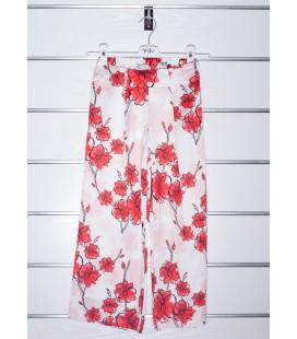 Pantalones estampado rojo para niña de Y-Clu