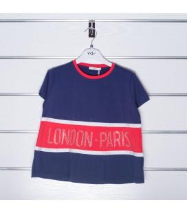 Camiseta azul marino para niña de Y-Clu