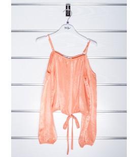Blusa naranja para niña de Y-Clu