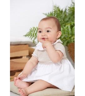 Vestido para bebé cuerpo de punto arena de Artesanía Granlei