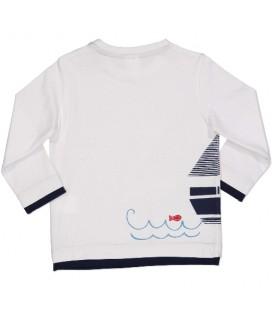 Camiseta blanca para bebé de Birba