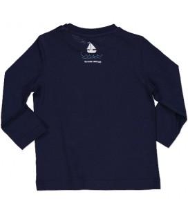 Camiseta azul marino para bebé de Birba