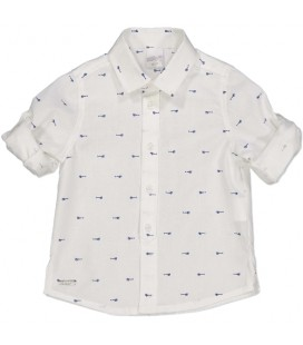 Camisa blanca con motivos para bebé de Birba