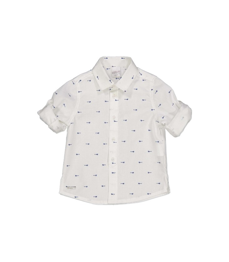25197e855 Camisa blanca con motivos para bebé de Birba - Adriels Moda Infantil