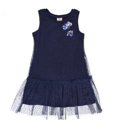 Vestido tul azul marino para niña de Trybeyond