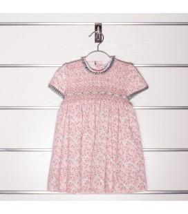 Vestido Clara rosa empolvado de Artesanías Filita