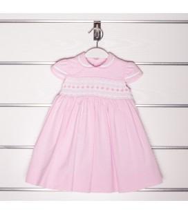 Vestido Marta rosa para niña de Artesanías Filita