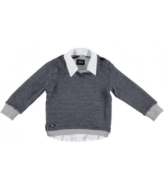 b8e116838 Jersey de punto gris con corazon arena para niña de Valentina Bebés ...