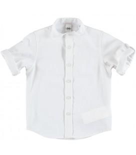Camisa blanca cuello mao para niño de iDo by Miniconfq