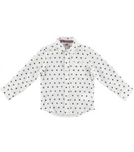 Camisa crema con topos para niño de iDo by Miniconf