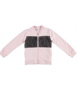 Sudadera abierta rosa para niña de iDo by Miniconf