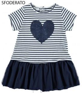 Vestido azul marino para niña de iDo by Miniconf