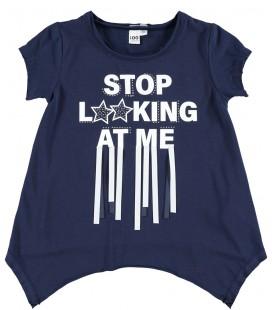 Camiseta azul marino para niña de iDo by Miniconf
