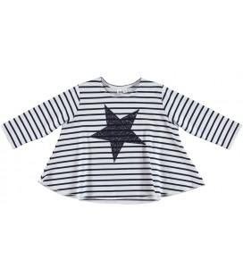 Camiseta rayas para niña de iDo by Miniconf