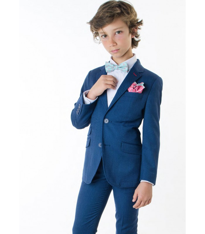 45e9acbbb164 Pantalón traje azul marino para niño de Spagnolo