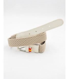 Cinturón sarga elastica para niño de Spagnolo - Beige